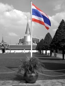 Thai Flag At Grand Palace